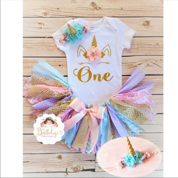 d84625b227de etsy Matching Sets | 1st Birthday Unicorn Outfit Size 1218 Mths ...